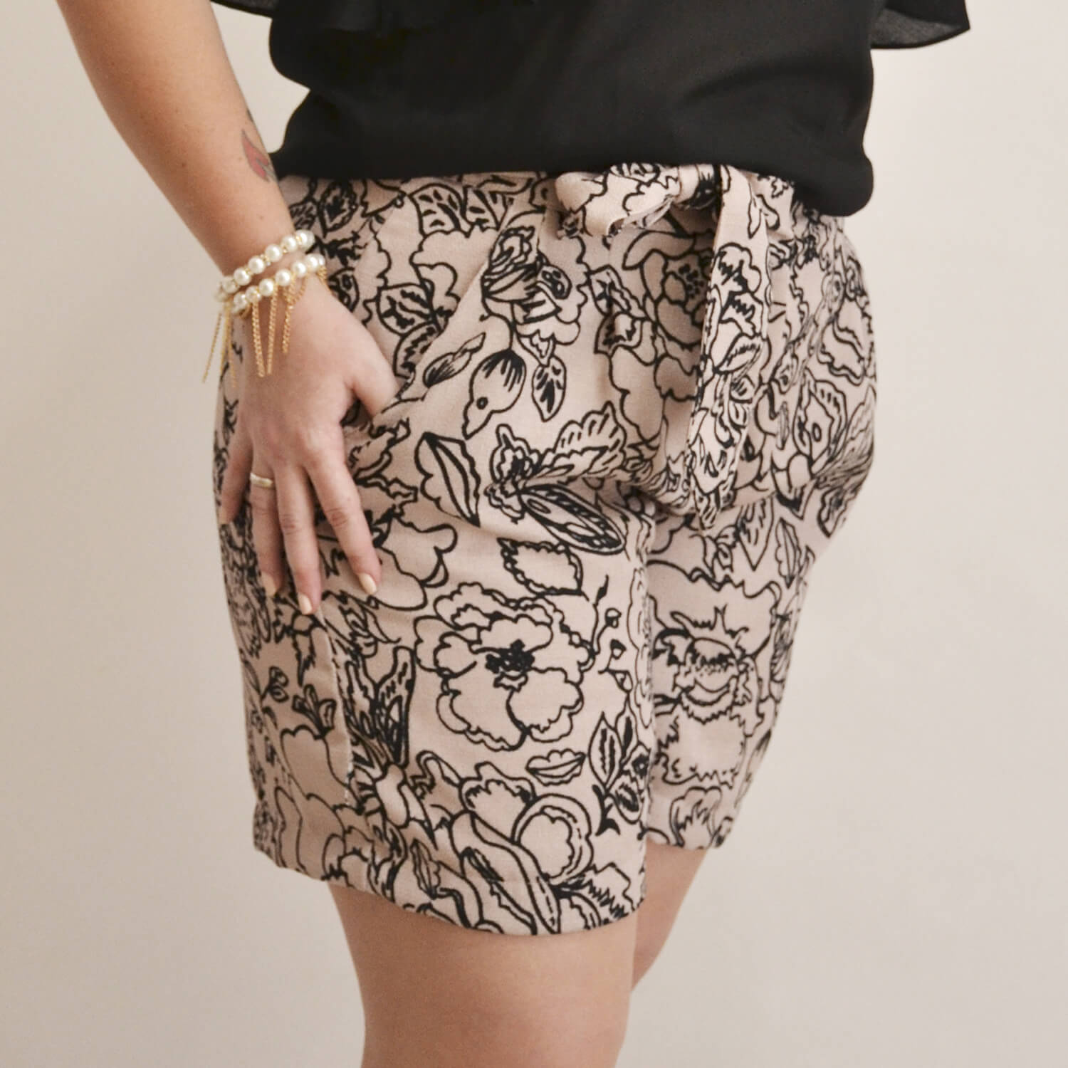 Shorts Feminino Estampado Plus Size - Annual Plus