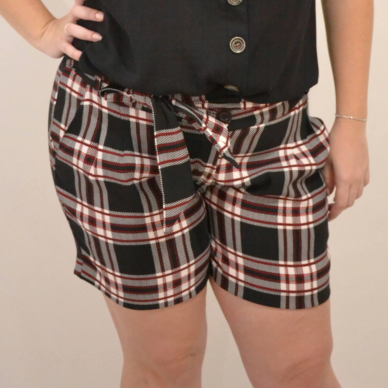 Shorts Feminino Xadrez Plus Size - Annual Plus