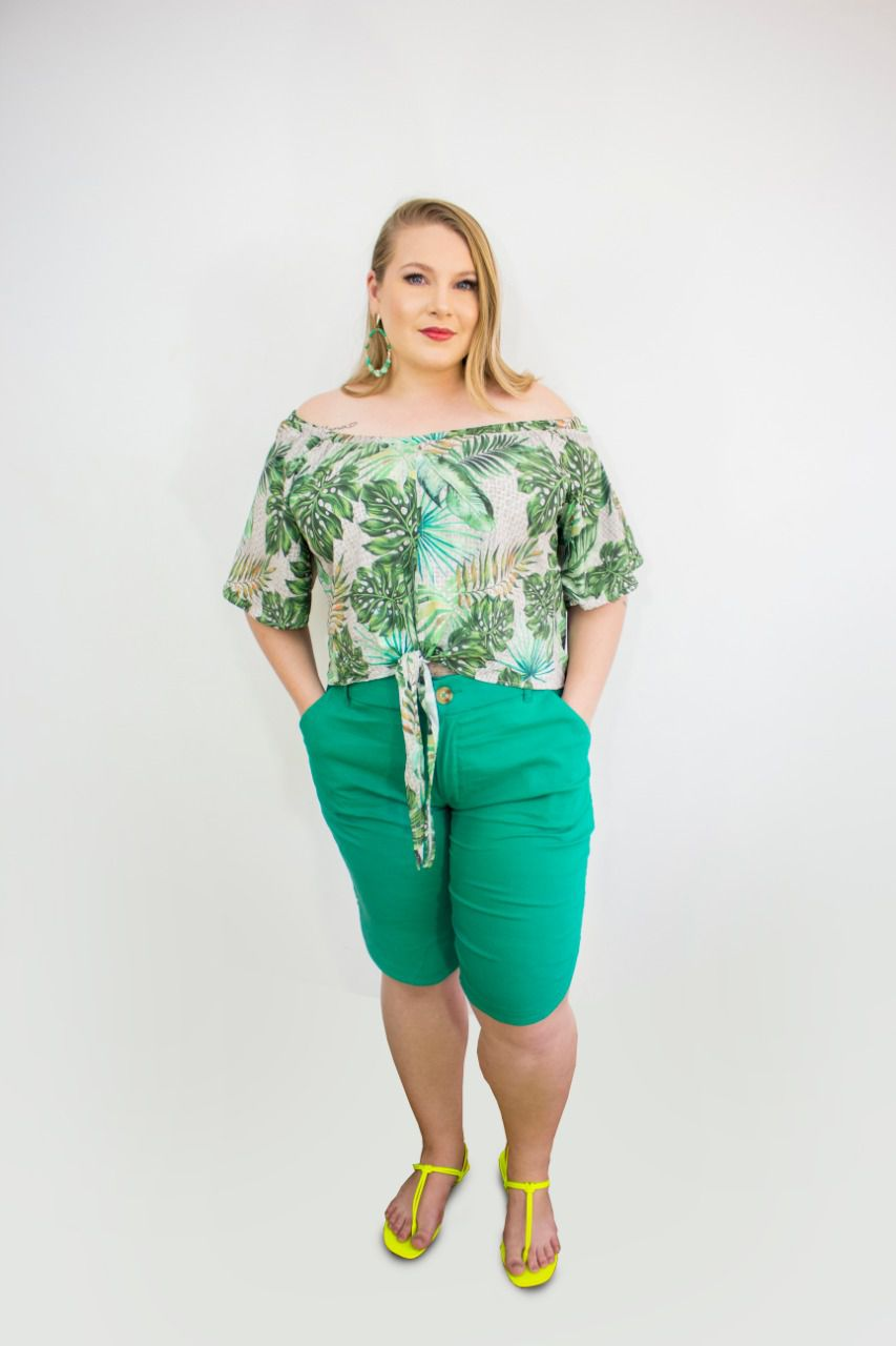 SHORTS PLUS SIZE ANN ISABELLY A13980