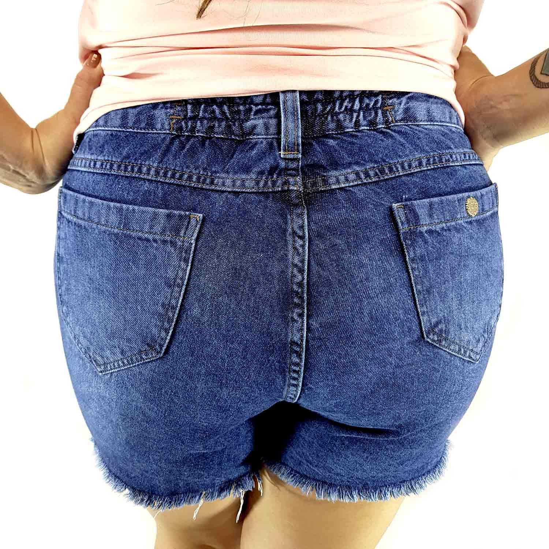 Shorts Saia Feminino Plus Size - Annual Plus