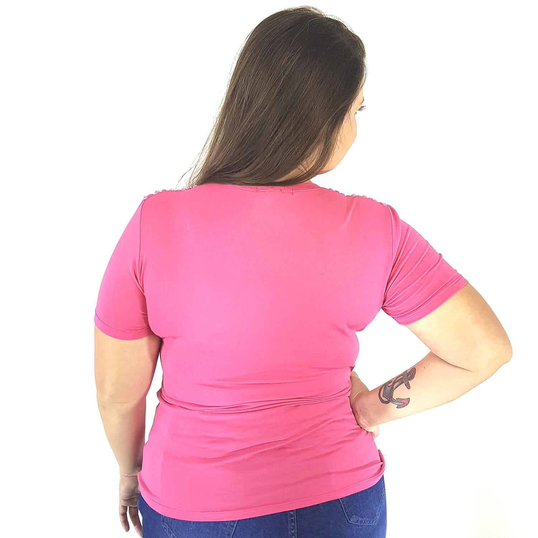 T-shirt Feminina lisa Plus Size - Annual Plus
