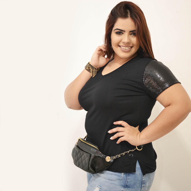 Tshirt Feminina Plus Size Nicole - Annual Plus