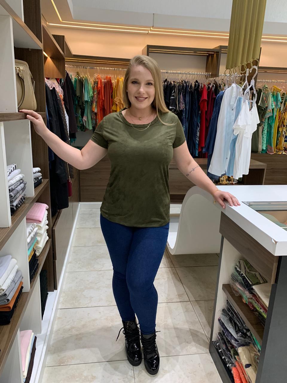 TSHIRT PLUS SIZE SUEDE A14825