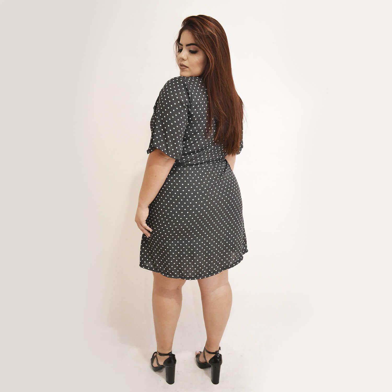 Vestido Feminino Com Amarração Plus Size - Annual Plus