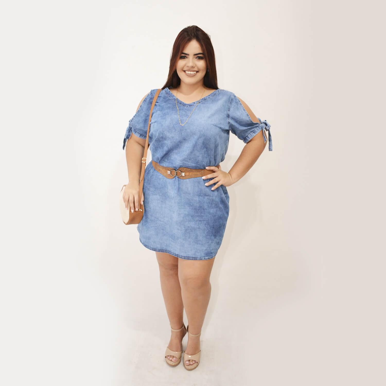 Vestido Feminino Jeans Plus Size - Annual Plus