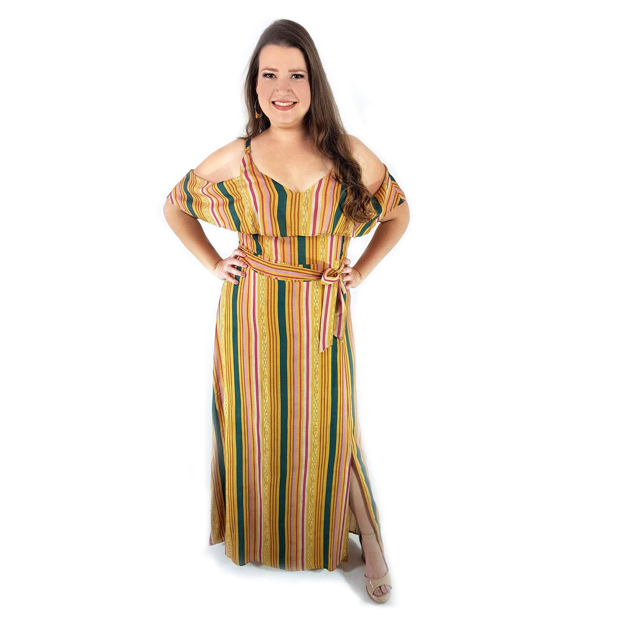 Vestido Longo Feminino Plus Size - Annual Plus