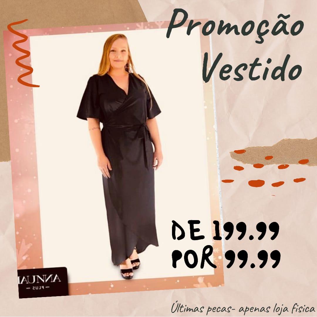 VESTIDO PLUS SIZE ANN NICOLE A14204