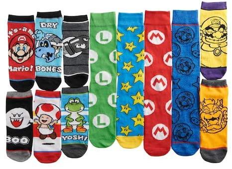 12 Meias do Super Mario (Envio Internacional) - Nintendo Switch