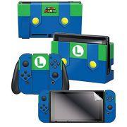Adesivo Para Nintendo Switch Luigi Outfit Com 3 Adesivos