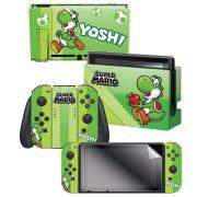 Adesivo Yoshi Com 3 Adesivos - Nintendo Switch