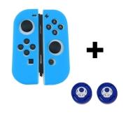 Case de Silicone + Par de Protetores Analógicos para Controles Joy-Con - Toad - Nintendo Switch
