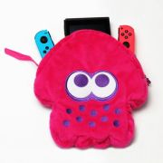 Case Pouch Plush Splatoon 2 Hori Pink - Nintendo Switch