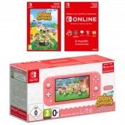 Console Nintendo Switch Lite Coral + Animal Crossing: New Horizons + Nintendo Switch Online: 3 Meses - Lista de Espera