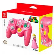 Controle Battle Pad Peach Hori Rosa - Nintendo Switch