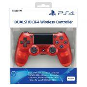 Controle Dualshock Ps4 Crystal (Transparente Vermelho) - Sony
