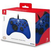 Controle Horipad Azul Com Fio  - Nintendo Switch