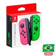 Controle Joy-Con Rosa/Verde - Nintendo Switch - Versão Nacional