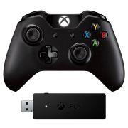 Controle Xbox One Com Adaptador para PC - Preto