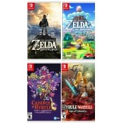 Kit Breath of the Wild + Link's Awakening + Hyrule Warriors + Cadence of Hyrule - Nintendo Switch