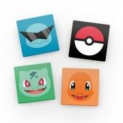 kit Porta Copos de Acrílico Pokémon (4 Unidade)