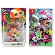 Kit Splatoon 2 - Nintendo Switch + Amiibo - Inkling Girl