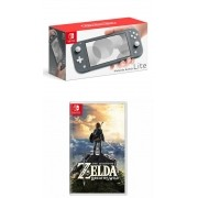 Kit Zelda: Breath of the Wild + Console Nintendo Switch Lite 32GB - Cinza