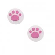 Par de Protetores Analógicos Joy-Con - Animal Crossing (Branco/Rosa) - Nintendo Switch