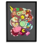Quadro Decorativo - Mario vs Pacman - Lua Lins