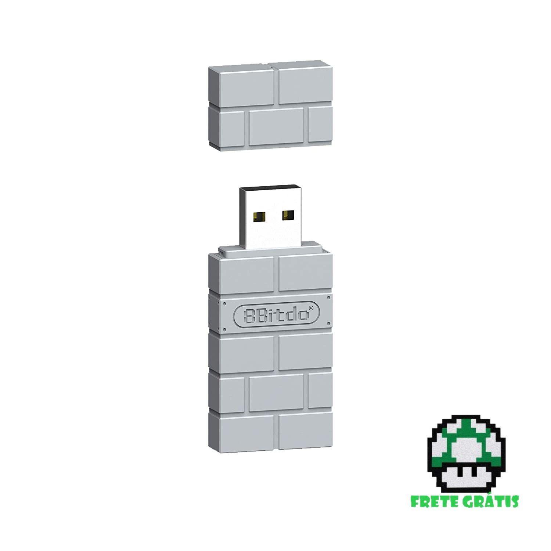 Adaptador USB Sem Fio para PS1 Clássico 8BitDo - Envio Internacional - Frete Grátis