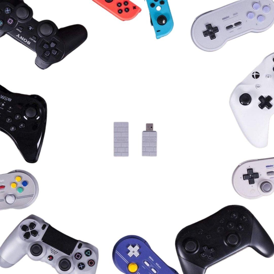 Adaptador USB Sem Fio para PS1 Clássico 8BitDo - Nintendo Switch - Pronta Entrega