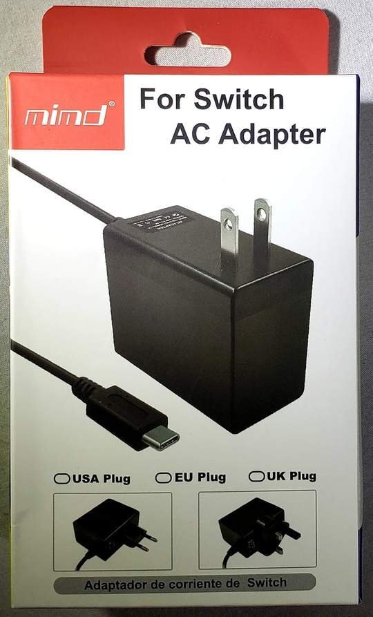 Adapter AC para Switch - Mimd (Envio Internacional) - Nintendo Switch