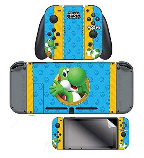 Adesivo Mario Yoshi Skin 024679 Com 2 Adesivos - Nintendo Switch