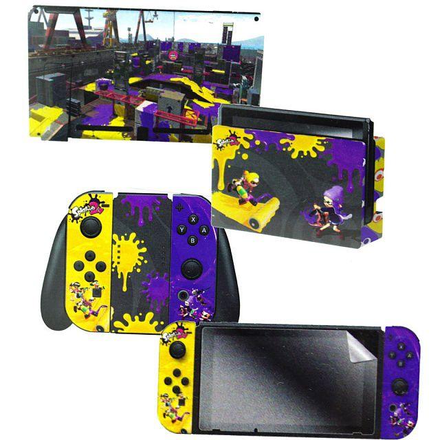 Adesivo Para Nintendo Switch Splatoon 2 Stand Off Com 3 Adesivos