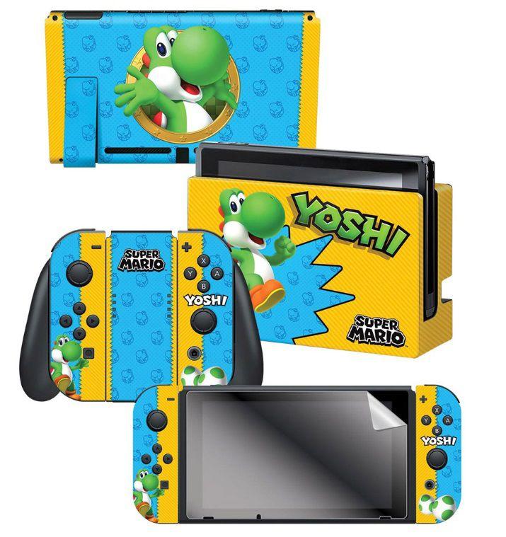 Adesivo Yoshi Skin 024662 Com 3 Adesivos- Nintendo Switch