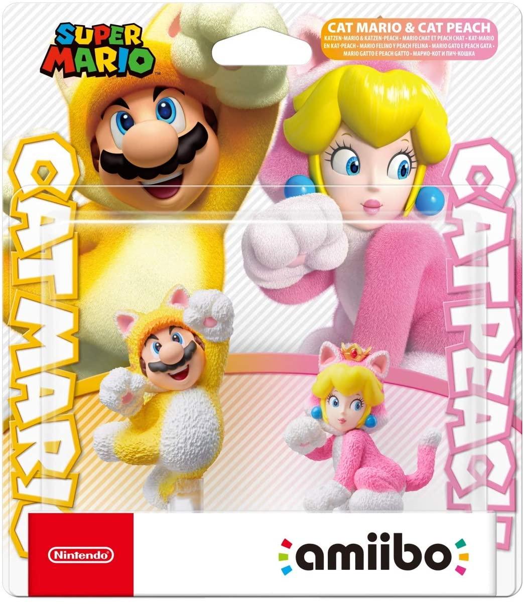Amiibo Duo - Cat Mario e Cat Peach - Super Mario