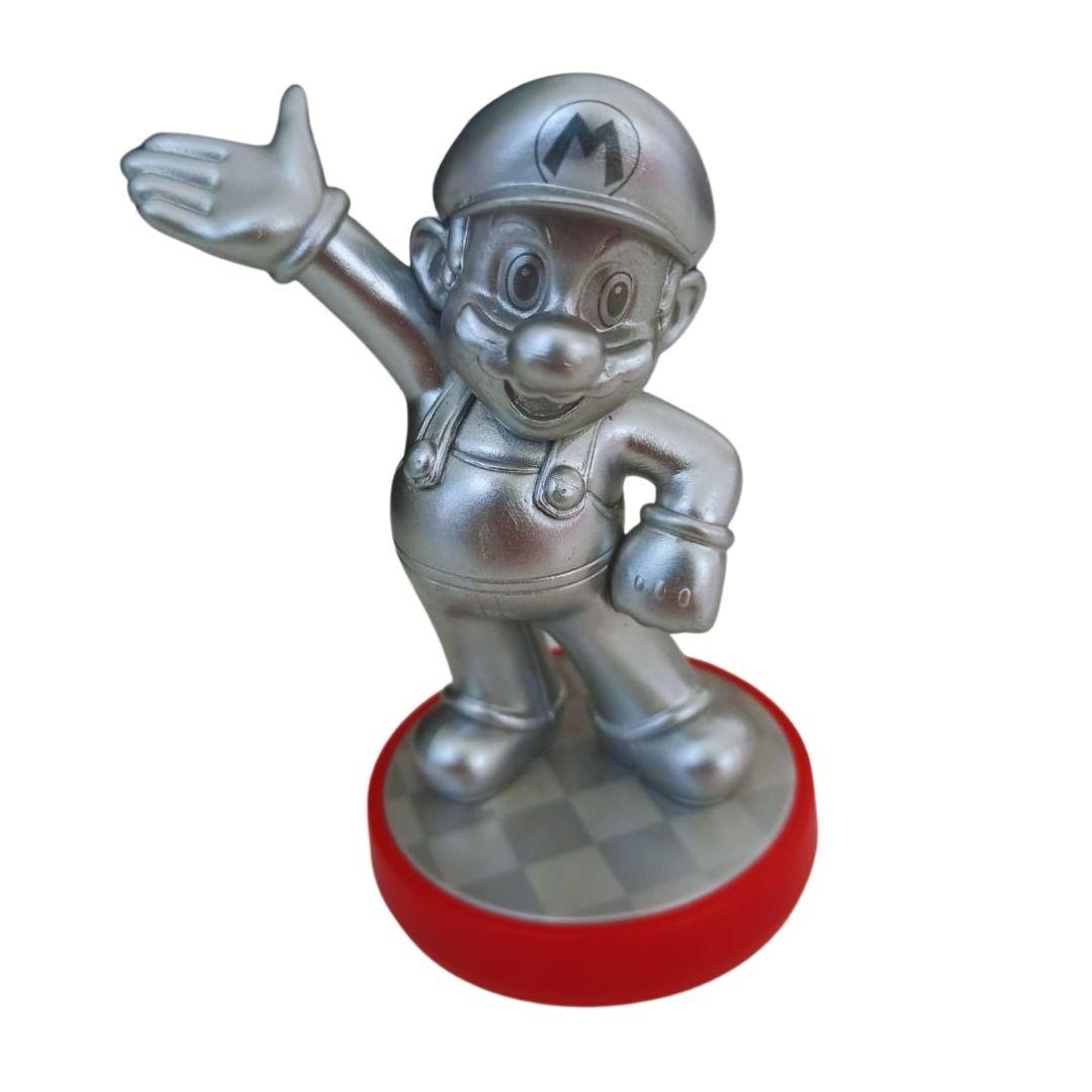 Amiibo - Mario Silver - Super Mario - Usado
