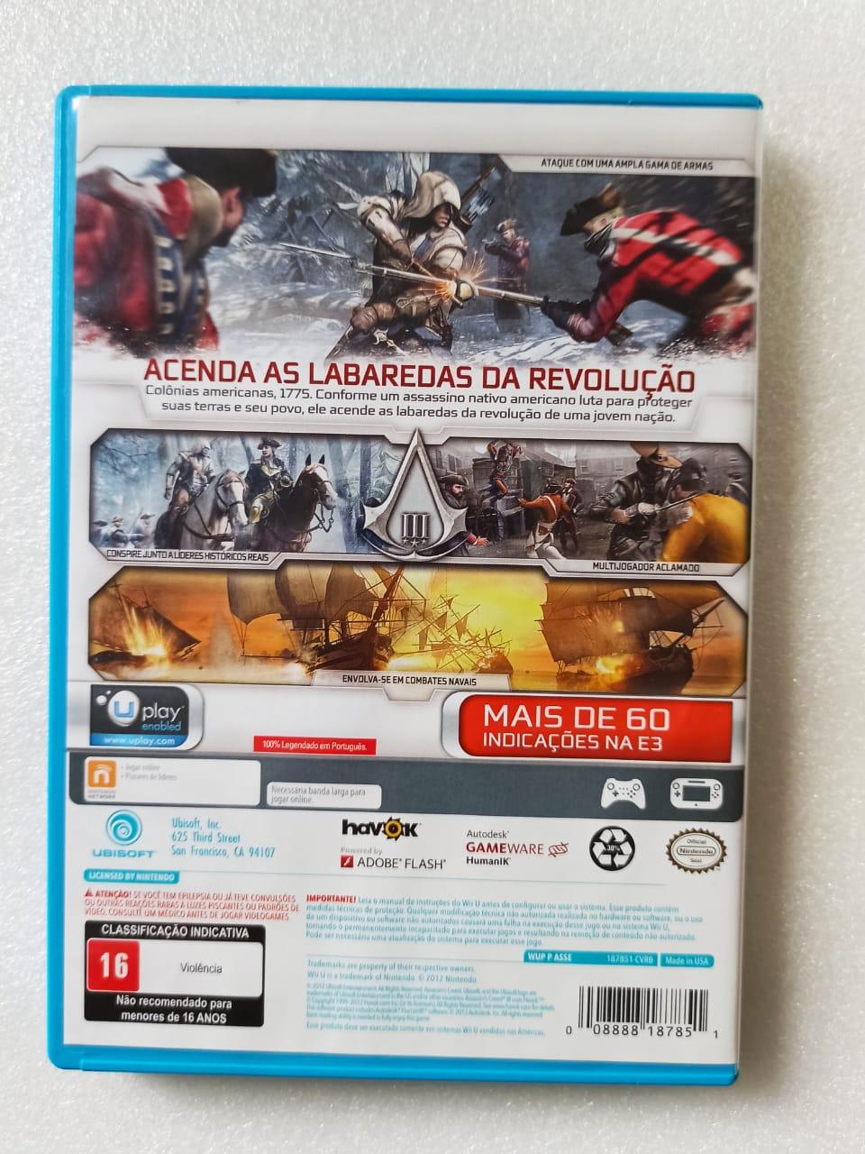 Assassin's Creed III - USADO - Nintendo Wii U