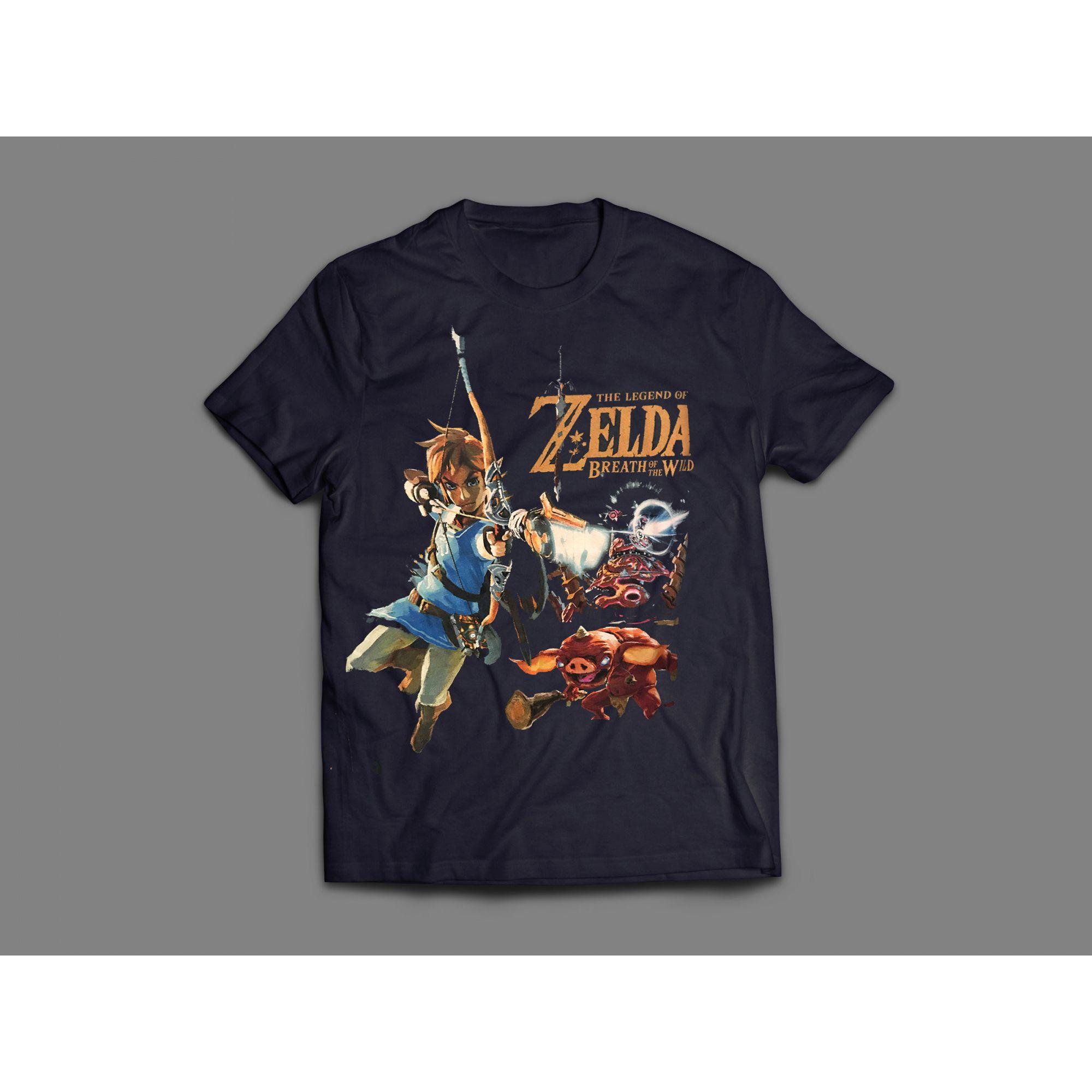 Camiseta Bokoblin Zelda Azul Marinho Oficial Nintendo