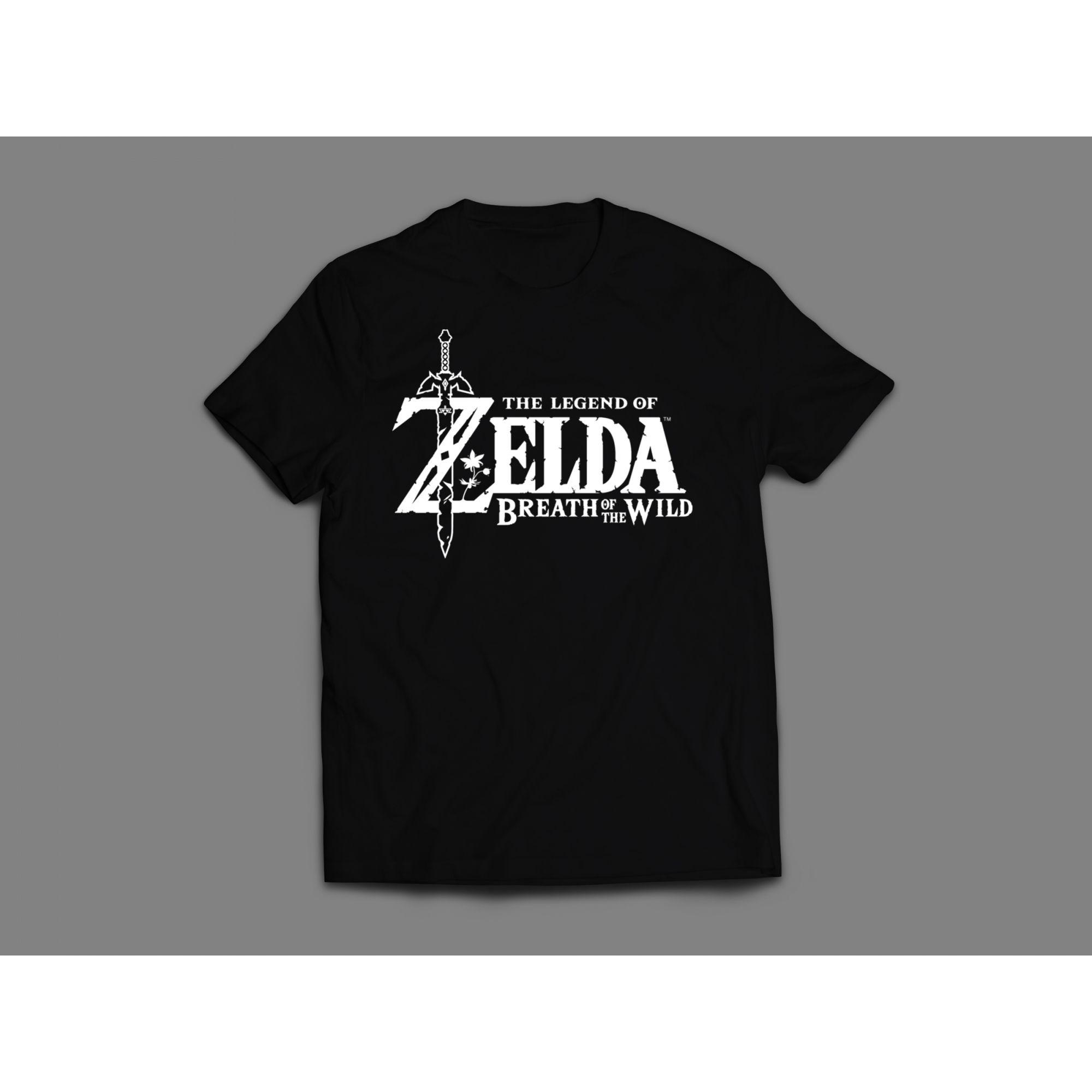 Camiseta Logo Zelda Preta Feminina
