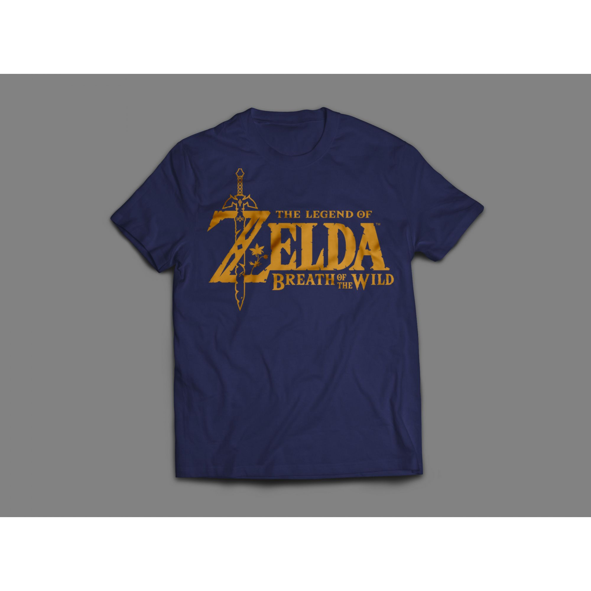 Camiseta Feminina Logotipo Zelda Azul Marinho - Oficial Nintendo