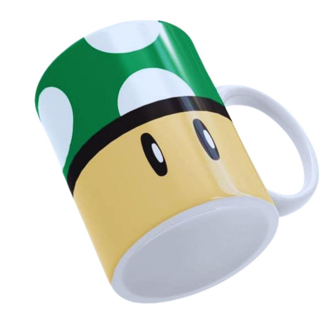 Caneca Personalizada - Super Mario - Toad Verde