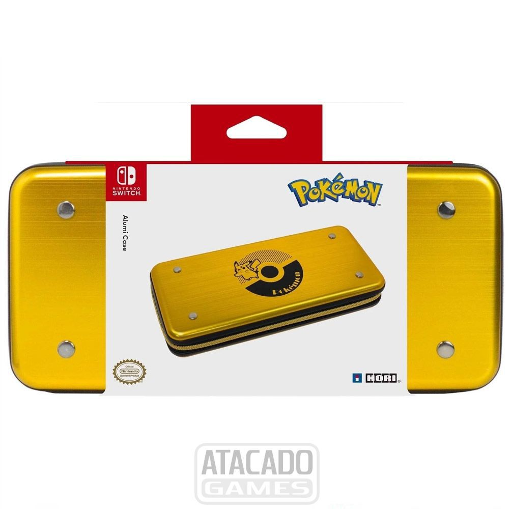 Case Alumínio Hori Pokemon Alumicase - Nintendo Switch