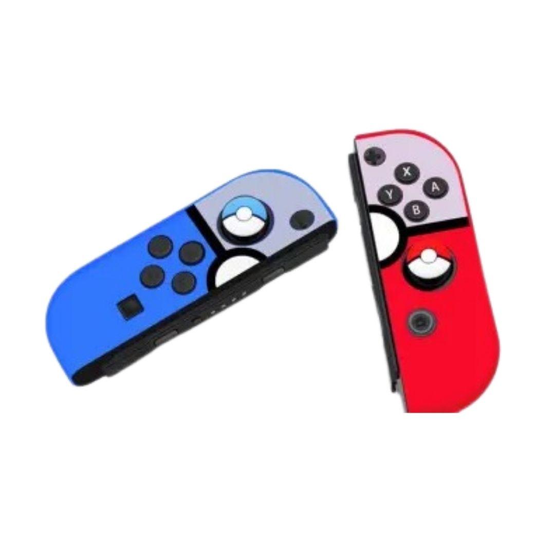 Case de Silicone + Par de Protetores Analógicos para Controles Joy-Con - Pokémon - Nintendo Switch