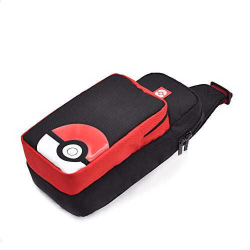 Case Hori Pokeball Trainer Pack preto e vermelho - Nintendo Switch
