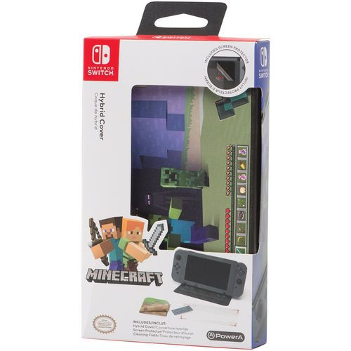 Case Hybrid Cover Minecraft World - Nintendo Switch