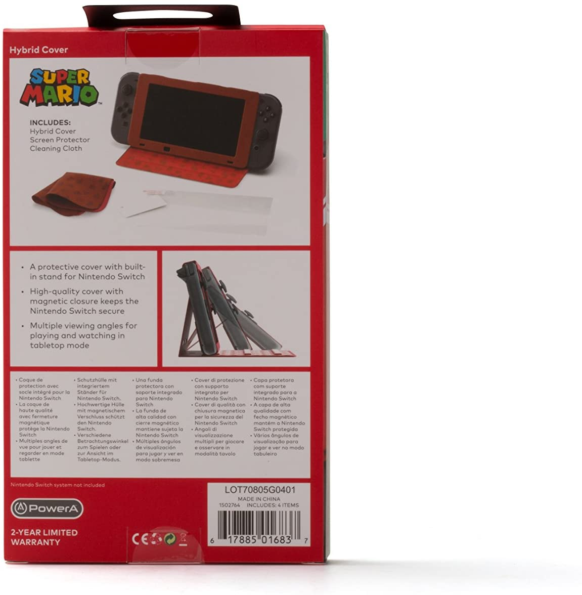 Case Hybrid Cover Super Mario - Nintendo Switch