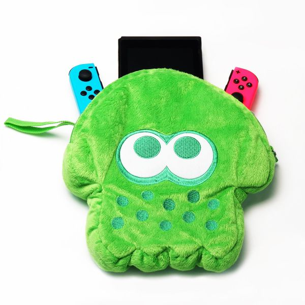 Case Pouch Plush Splatoon 2 Hori Verde - Nintendo Switch