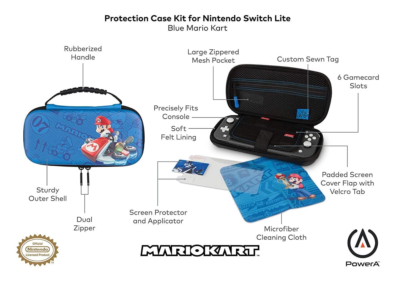 Case Protection Kit for Nintendo Switch Lite – Blue Mario Kart (Envio Internacional) - Nintendo Switch