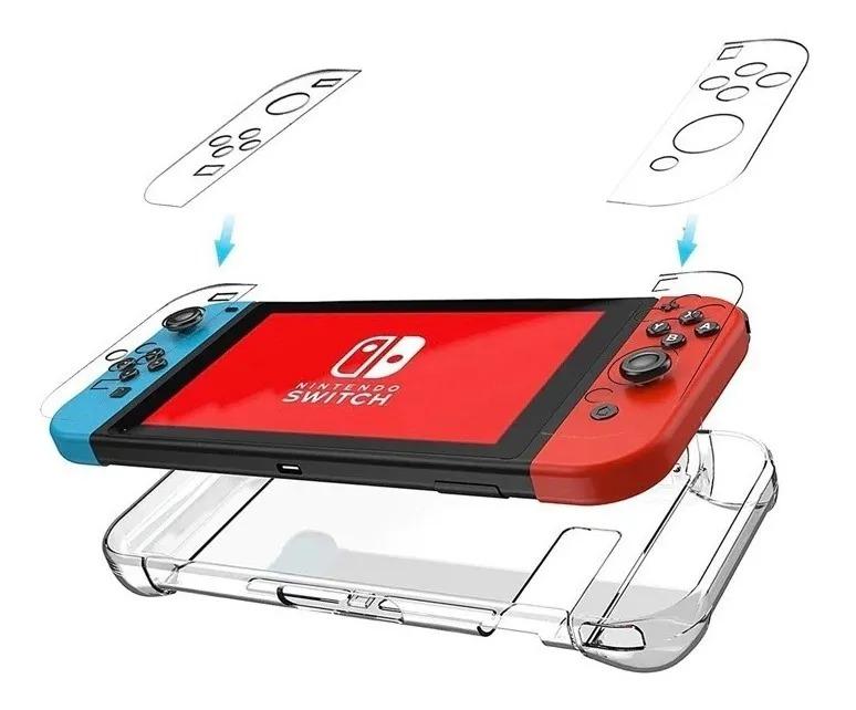 Case Protetora de Acrílico Transparente - Nintendo Switch