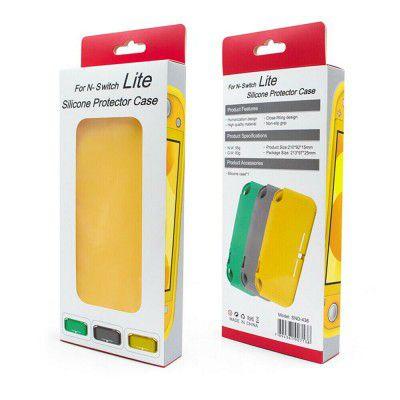 Case Silicone Protector Amarelo - Nintendo Switch Lite